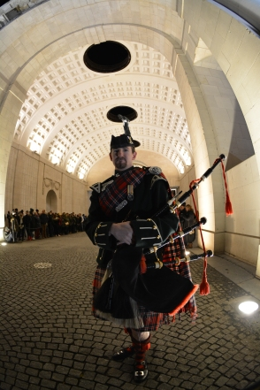 Bagpipes at the Menin gate